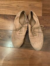 Topshop Suede Beige Tan Lace Up Brogues Size 40