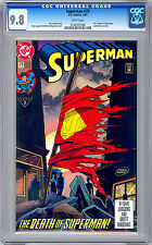 SUPERMAN #75 CGC 9.8 *EPIC DOOMSDAY vs SUPERMAN BATTLE* DEATH OF SUPERMAN 1993