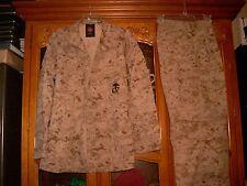 SET ISSUED USMC MARPAT Uniform DESERT Combat Shirt Pants SIZE SMALL REGULAR  SR