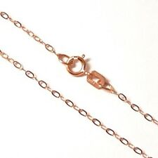 "100% GENUINE & PURE 9ct 9k 375 Rose Gold 18""/45cm Cable Trace Chain Necklace"