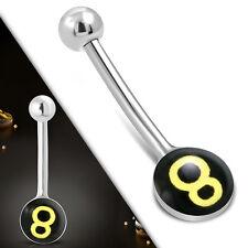 Mini Bauchnabelpiercing Nabel Stecker Für Tag & Nacht All Day Piercing Billard