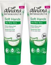 ALVIANA crème mains Soft Hands aloé vera bio 75 ml LOT DE 2