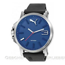 Puma Herrenuhr Ultrasize 50 silver blue PU 103461014 Silikonband