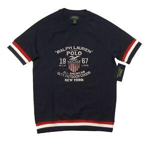 Polo Ralph Lauren Men's Navy Waffle Knit Thermal Short Sleeve Lounge T-Shirt