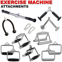 Home Gym Cable Attachment Handle Machine Exercise Chrome Press Down Combo 6/8PCs
