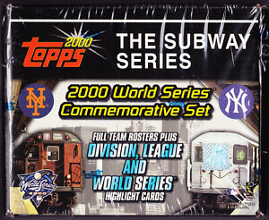 2000 Topps The Subway Series World Series Commemorative Set factory sealed box