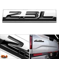 """""""2.3L""""Polished Metal 3D Decal Black Emblem Exterior Sticker For Mazda/Ford/Honda"""