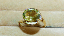 Superb Green Apatite and Diamond Ring  3.80ct