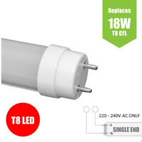 10W T8 LED Tube Lights - 2ft (600mm) POWER TO SINGLE END - Natural White 4000K