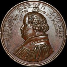 Protestante: Médaille 1846, Loos. Martin Luther - 300. anniversaire de la mort-Wittenberg.