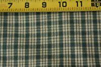 By 1/2 Yd, Vintage, Green & Tan Plaid Homespun Cotton, P568