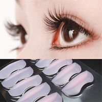 10Pcs Eyelash Lift Perming Silicone Curler Pads Shield Rods Embedded Ridges New