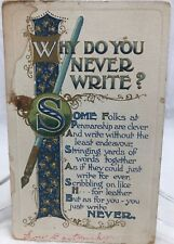 B B London Why do you never write Postcard With Message Unposted Series 692 Rare
