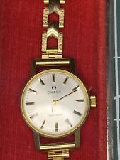 Vintage Omega 9ct gold ladies watch Cal 485 With Box