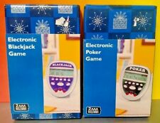 Electronic Blackjack + Poker Electronics Handheld LCD Game Lot Brand New Sealed