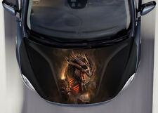 Mechanical Dragon Car Hood Wrap Full Color Vinyl Sticker Decal Fit Any Car