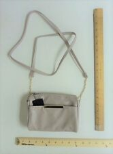 Women's Apt 9 Grey Off White Cream MINI Purse WALLET Hand Bag Cute Cross Body