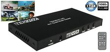 HDMI 4x1 Quad View Seamless Multiview Switcher 1080P with IR or RS232