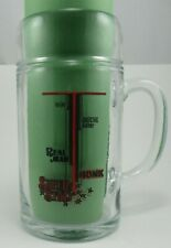 Vintage, Collectible, Clear, Beer Mug, 32 ounces, Shows the type of drinker.