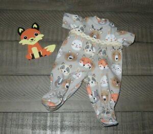 "Handmade Doll Clothes for 12"" - 14"" Baby Dolls - Boys ""Sleep Over"" Footed PJ's"