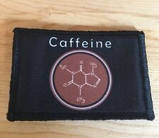 Caffeine Molecule Morale Patch Tactical Military Funny USA