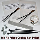 2x RV Camper Refrigerator Universal Cooling Fan Switch Thermostat DIY +Instruct.