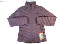 NWT THE NORTH FACE Women's Black Plum Trevail Full Zipper Down Parka Jacket S