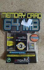 Memory card 64 mb per PS2 della Atomic