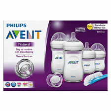 Philips AVENT Classic Natural Newborn Starter Set 4 Bottles-pacifier
