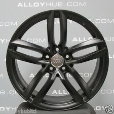 "GENUINE AUDI R8 19""INCH V8/V10 5 TWIN SPOKE SATIN/MATT BLACK ALLOY WHEELS X4"