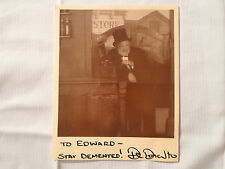 Dr Demento *Autographed Photo Radio Show Fan Club Signed To Edward/Ed Phonograph
