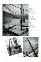 Fishermen and fishing nets at River Main XL 1932 page with 3 images Germany