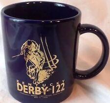 KENTUCKY DERBY 122 COFFEE MUG CUP 1996 CHURCHILL DOWNS LOUISVILLE KY BLUE GOLD
