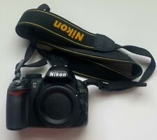 Nikon D D3100 14.2MP Digital SLR DSLR Camera Body, strap, battery, sd card