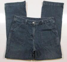 LL Bean Classic Denim Blue Jeans Pants Womens Size 12 Straight Leg Cotton