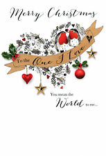 One I Love Embellished Christmas Card Joie De Vivre  Greeting Cards