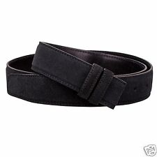 BLACK leather belt strap Belts for Men 34mm ferragamo buckles Italian suede 40""