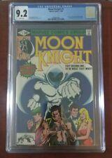 Moon Knight #1 CGC 9.2 WP Origin & 1st Appearance Bushman Marvel Disney Tv Show