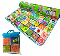Extra Large 2 Side Soft Foam Educational Baby Kids Toddler Floor Play Mat Crawl