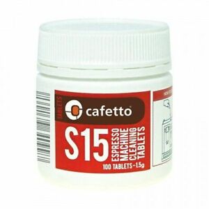 NEW Cafetto S15 Tablets Jar 100 x 1.5g for coffee machines