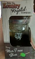 Ridge top Kountry Krystal Stemware Fancy Mar t nee Glass with coaster mason jar