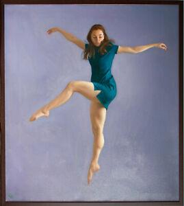 Original Framed Oil Painting Female Girl artwork woman dance dancing dancer