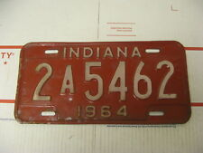 1964 64 Indiana IN License Plate 2A5462