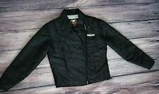 Harley Davidson Womens Sz Small Nylon Motorcycle Riding Jacket Crest Logo