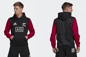 New Zealand Rugby Hoodie adidas Men's All Blacks Maori Logo Hoodie - New