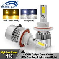 2X H13 9008 LED Headlight Conversion Kit 60W 8000LM HI-LO Beam Bulbs 6000K 3000K