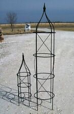 "64"" Wrought Iron Rose Topiary Garden Plant Trellis - Heavily Made to Last!"