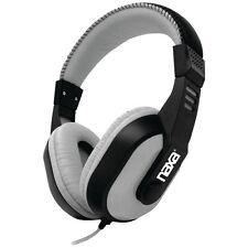 NAXA NE-934Gray DJZ Ultra Plus Headphone/Earbud Combo (Gray), large 40mm drivers