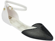 Women's Ankle Strap Flats without Pattern