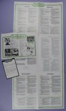 Subbuteo Membership Application, How To Play & Playing Pitch Care Leaflets